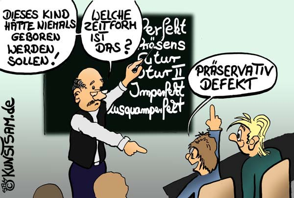 Schule Witz Cartoon