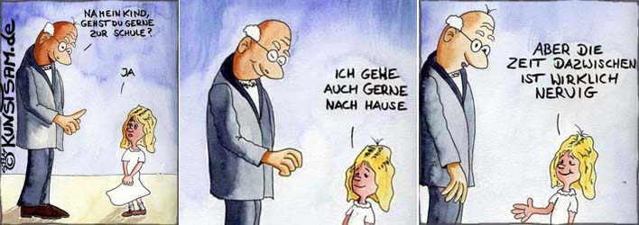 Schulcartoon